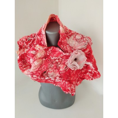 """Felted scarf """"Сolor play"""